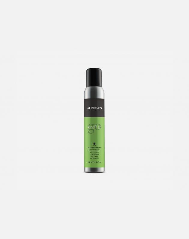 Allwaves Styling Shampoo Secco Spray'n Go Con Cheratina E Olio Argan   200 Ml