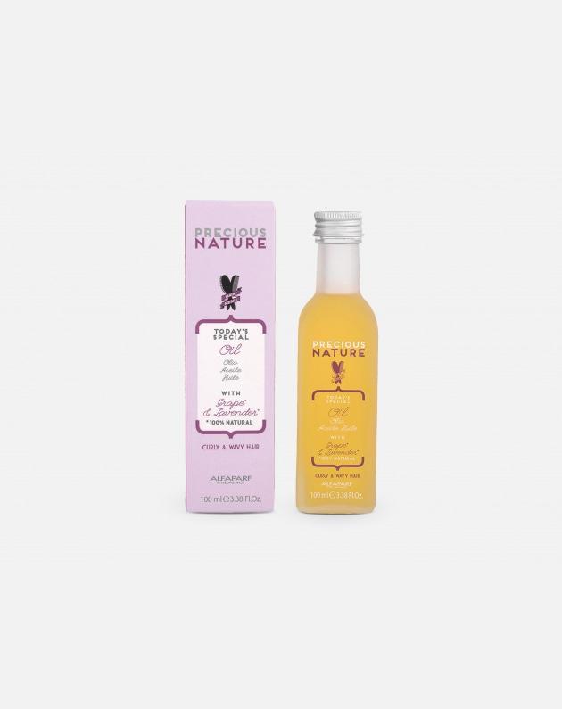 Alfaparf Precious Nature Capelli Mossi E Ricci Oil With Grape & Lavander For Curly & Wavy Hair 100 Ml
