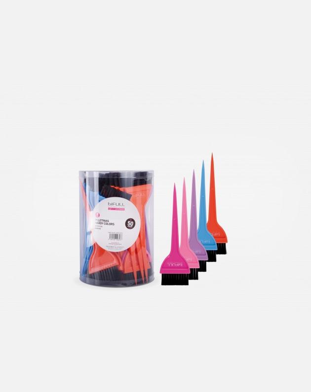 Bifull Box 50pz Pennelli Hardy Colors Multicolors
