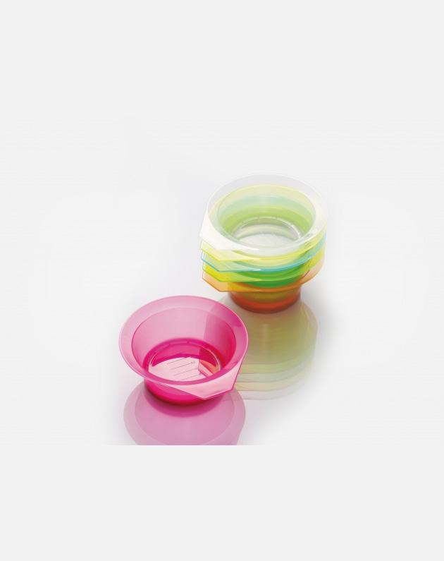 Bifull Contenitore Trasparente In Pvc Con 12 Ciotole Colorate Multicolors 250 Ml