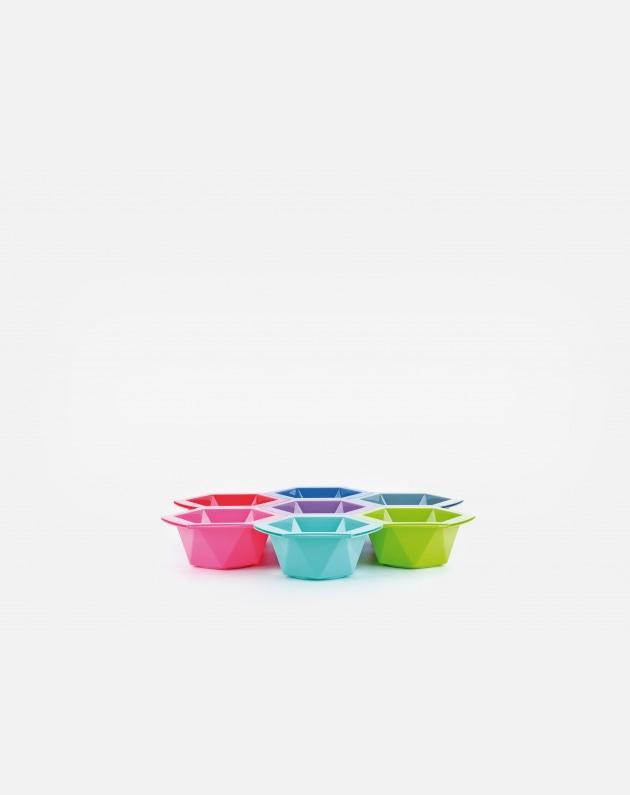 Bifull Set Di 7 Ciotole Colorate 315ml Hexa Colors Multicolors 315 Ml