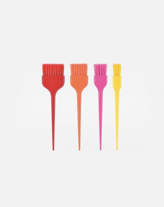 Bifull 4 Pennelli Per L'applicazione Del Colore Kit Polichrome Multicolors