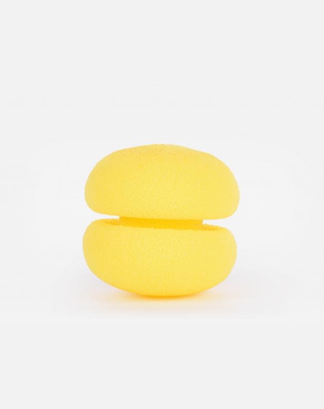Bifull Bigodini In Spugna Macaron Rollers Confezione 6pz  Giallo