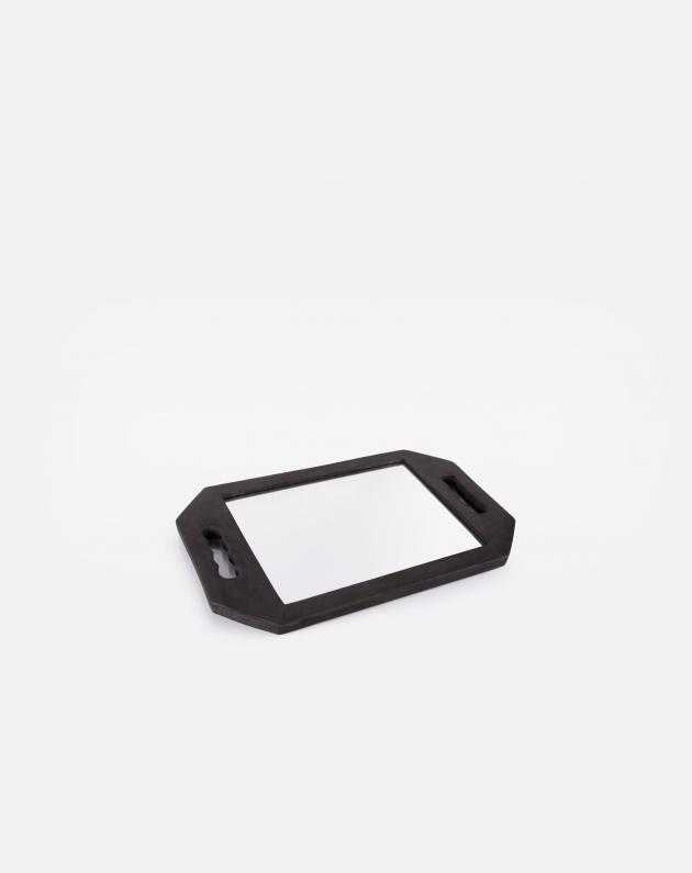 Bifull Specchio Infrangibile Con Maniglia Nera Rettangolare Nero