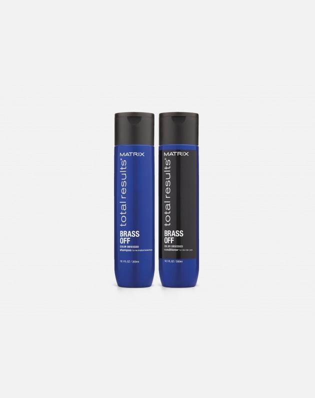 Matrix Total Results Brass Off Color Obsessed Binomio Shampoo+conditioner 300 Ml
