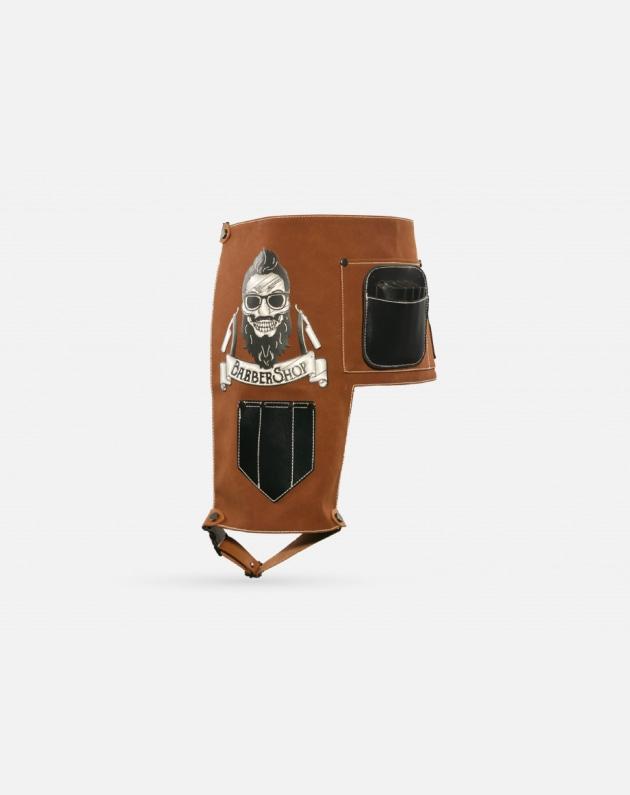 Zz Men Cintura Porta Attrezzi Hipster Skull Marrone